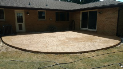 cobble stone stamped patio Portage